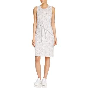 Rebecca Taylor Knotted Waist Linen Dress